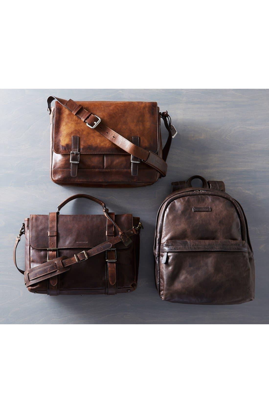 'Oliver' Leather Messenger Bag,                             Alternate thumbnail 9, color,