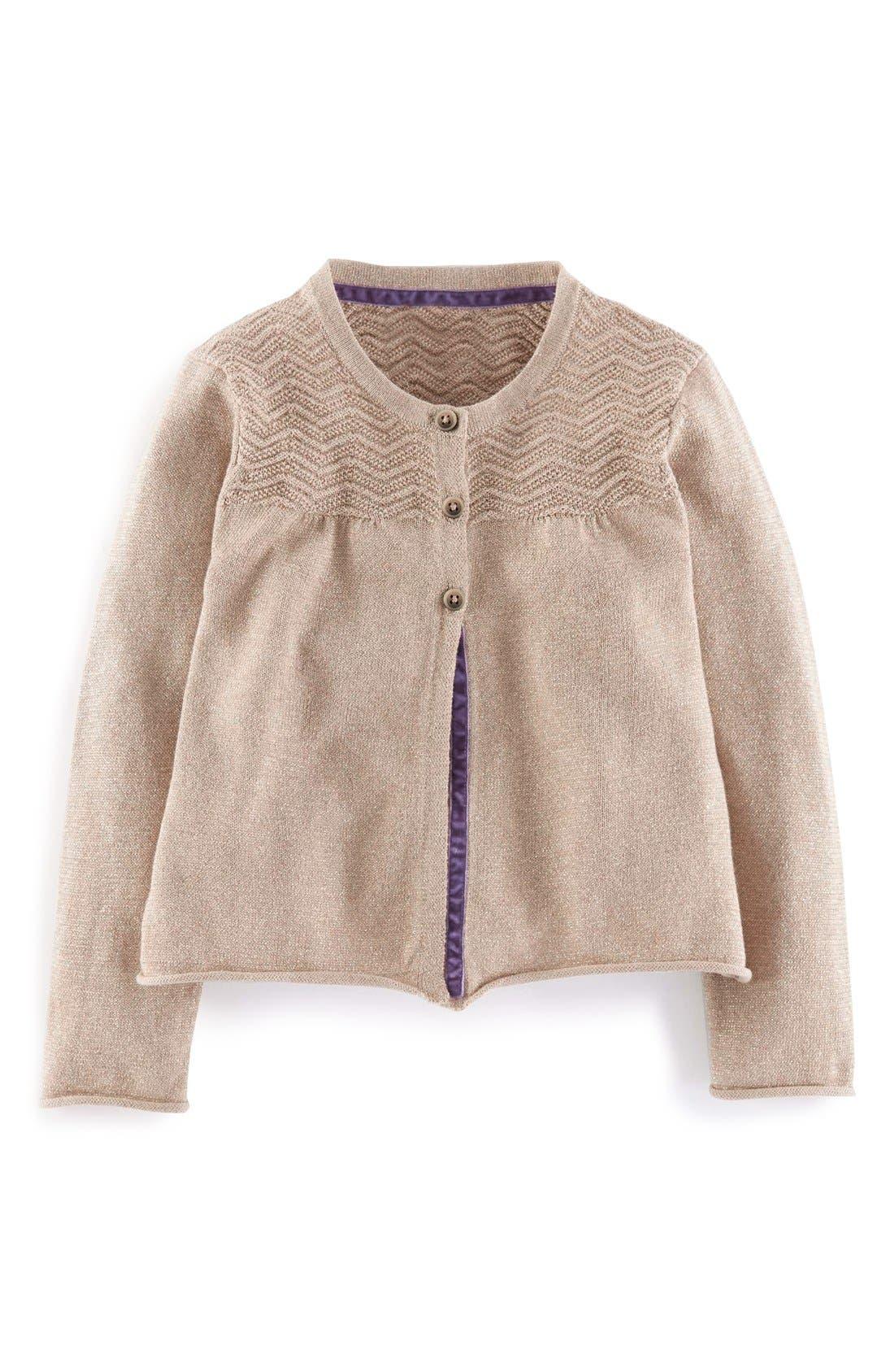 Main Image - Mini Boden Cotton & Cashmere Cardigan (Toddler, Little Girls & Big Girls)