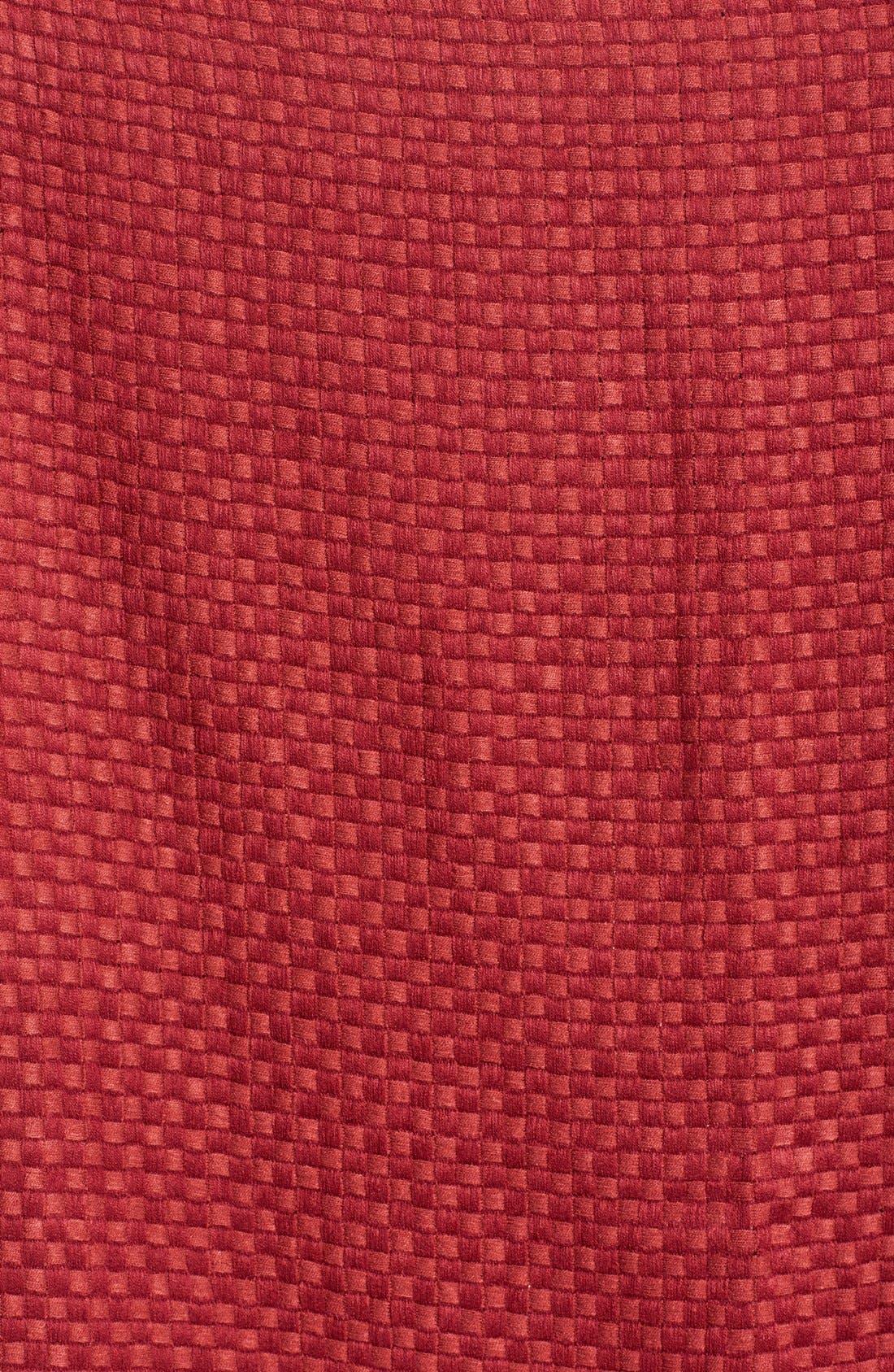 Alternate Image 2  - Halogen® Basket Weave Wrap Scarf