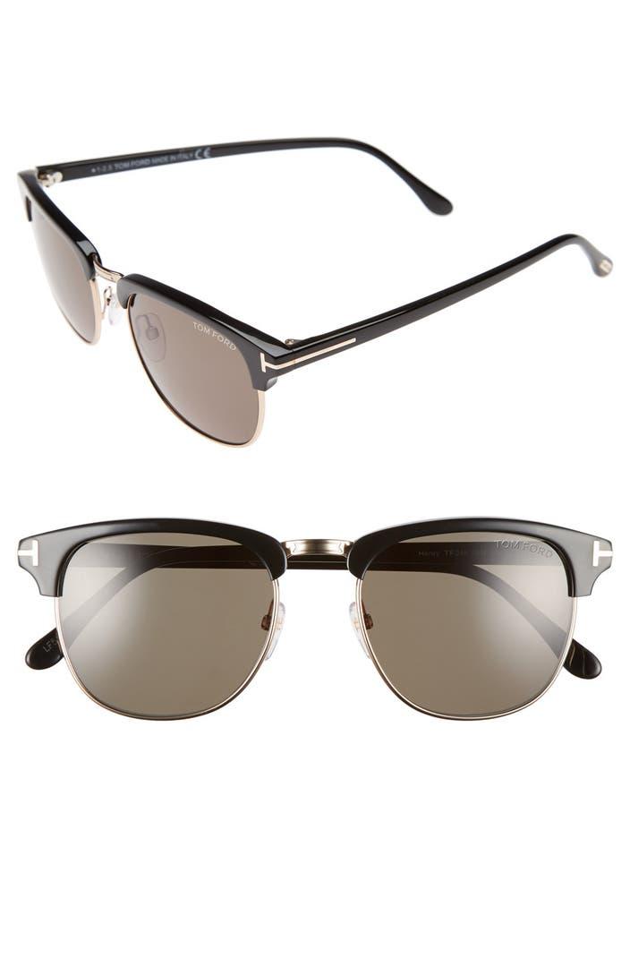 tom ford 39 henry 39 53mm polarized sunglasses nordstrom. Black Bedroom Furniture Sets. Home Design Ideas