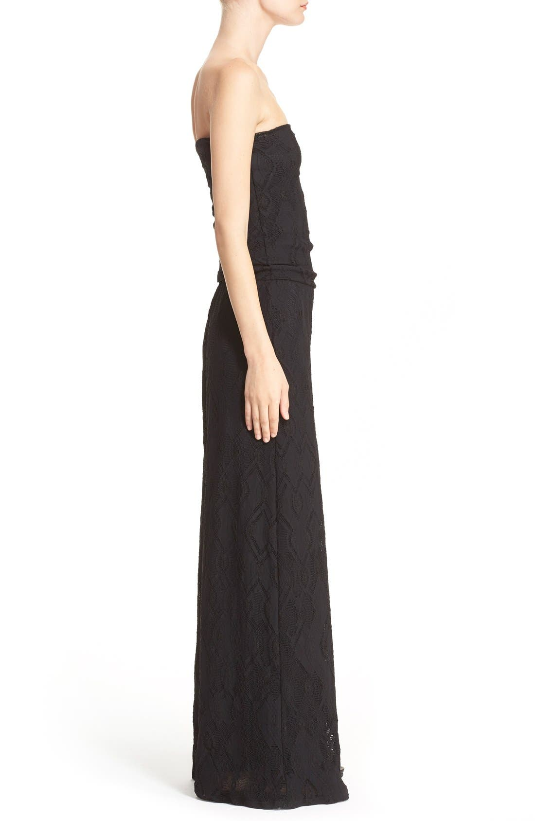 Alternate Image 5  - Fuzzi Strapless Lace Jumpsuit