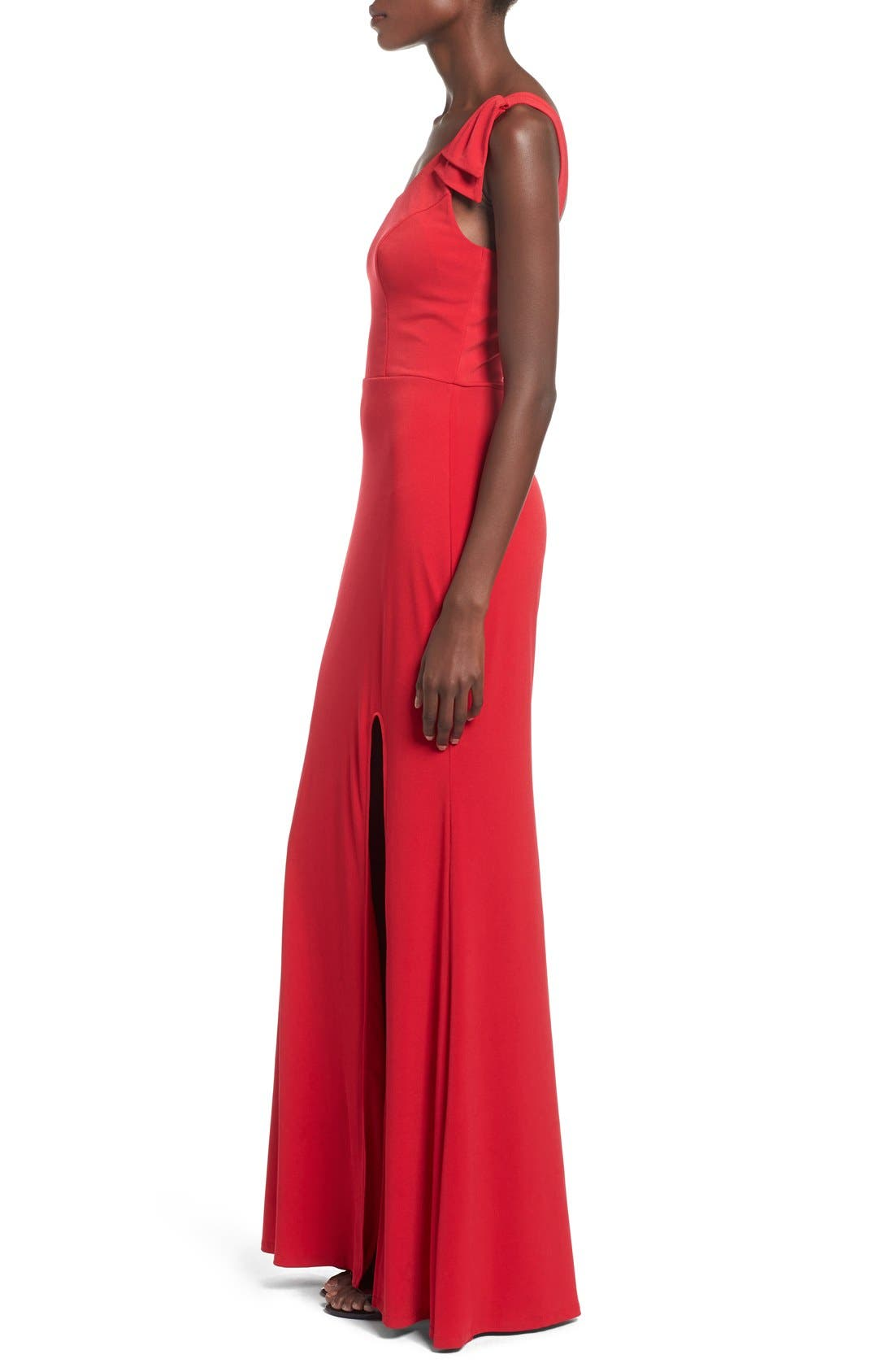Alternate Image 3  - Way-In 'Kelly' One-Shoulder Gown
