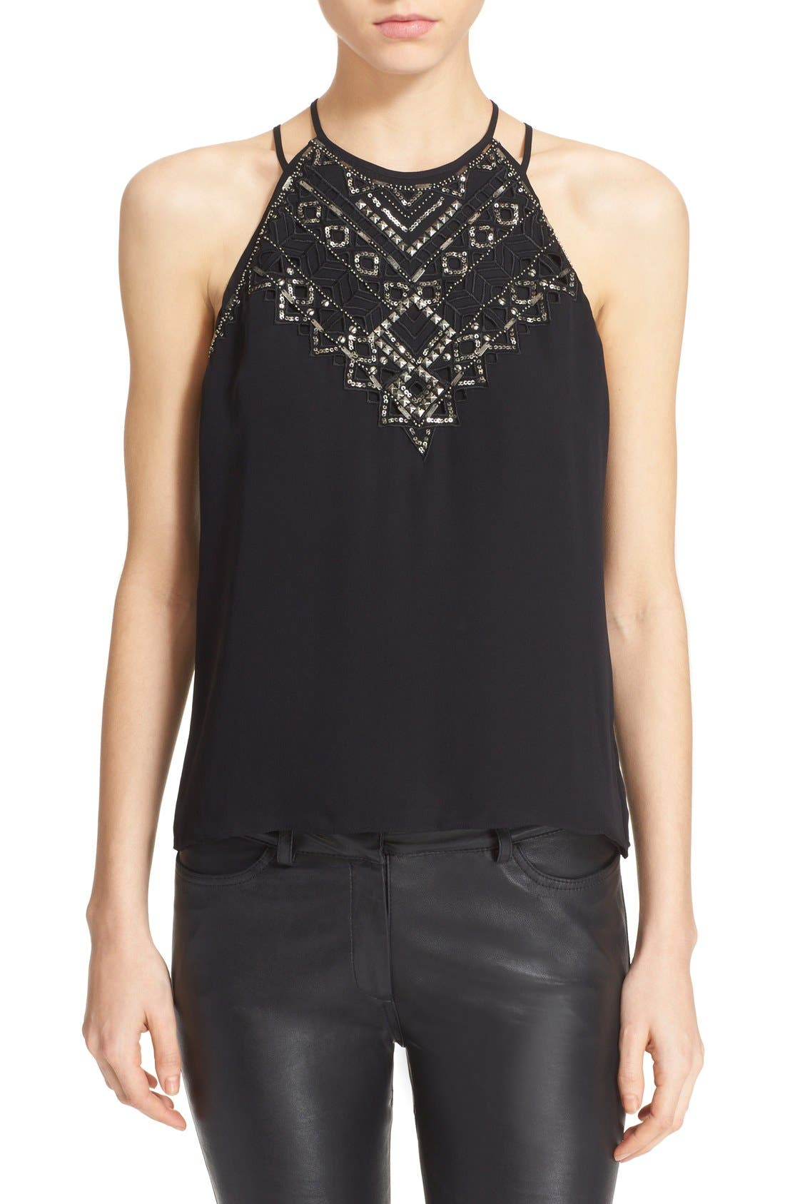 Alternate Image 1 Selected - Parker 'Neil' Embellished Strappy Racerback Tank