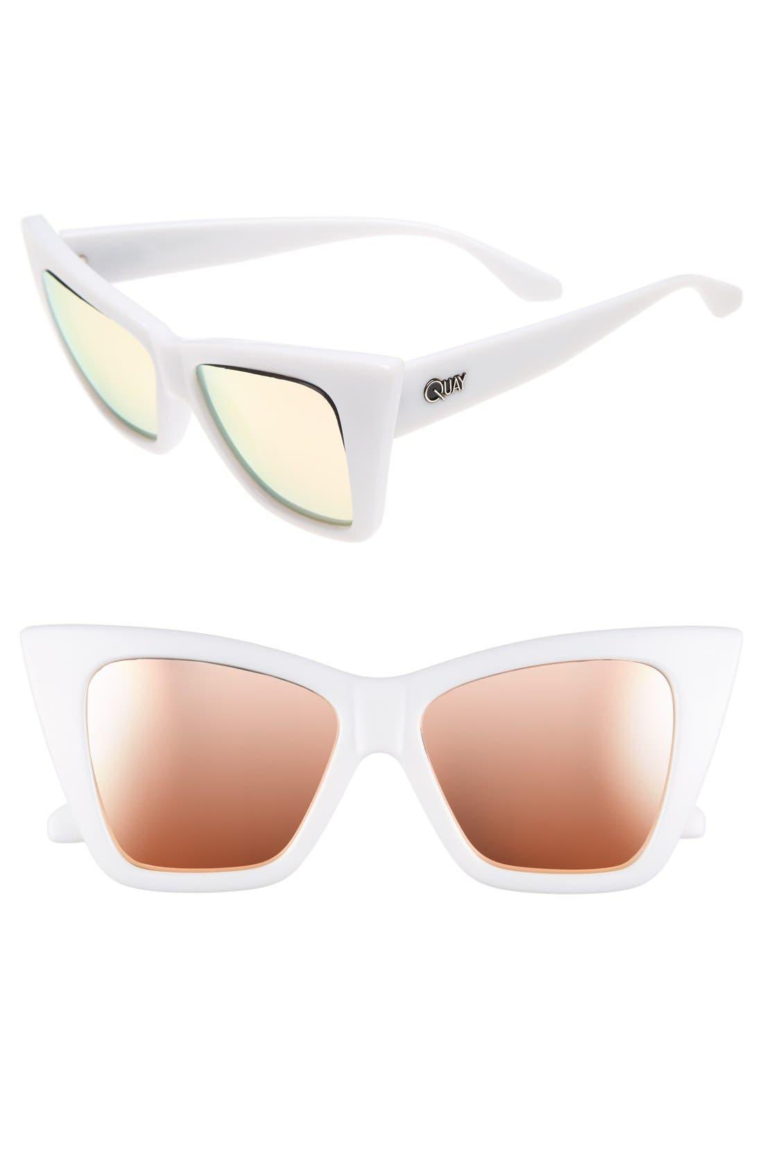 Main Image - Quay Australia 56mm 'Vesper' Exaggerated Cat Eye Sunglasses
