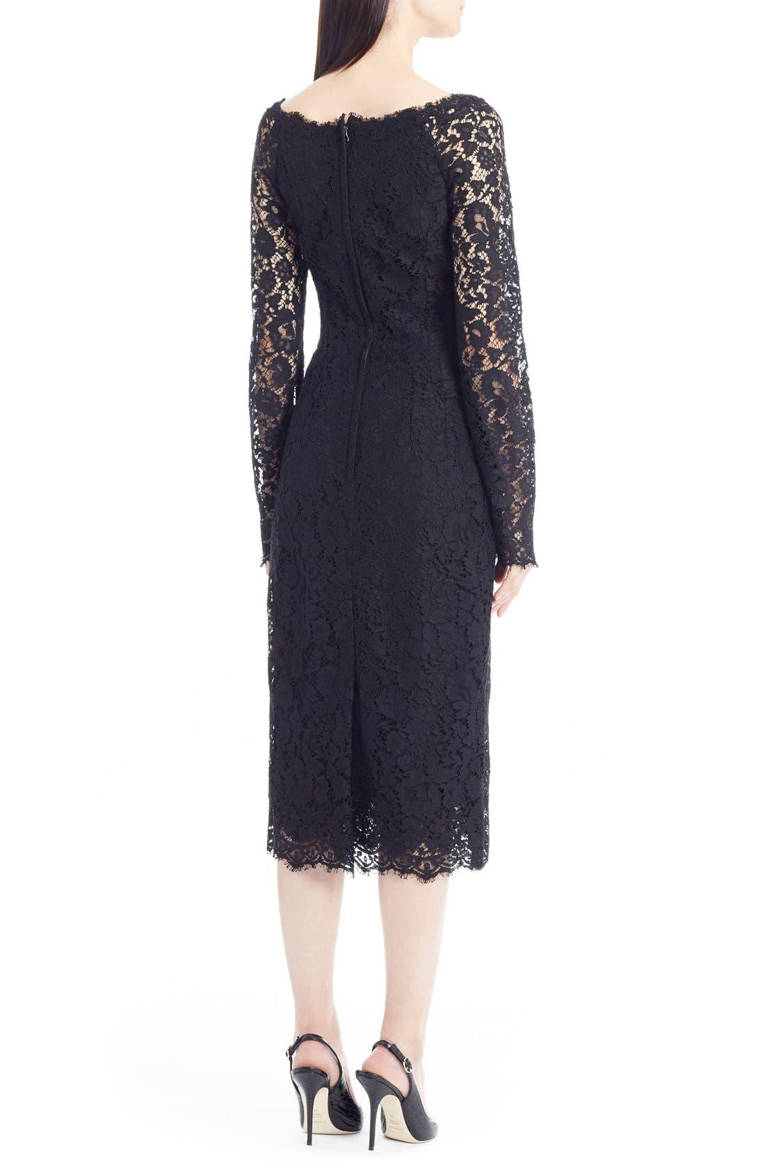 Alternate Image 2  - Dolce&Gabbana Scoop Neck Lace Dress