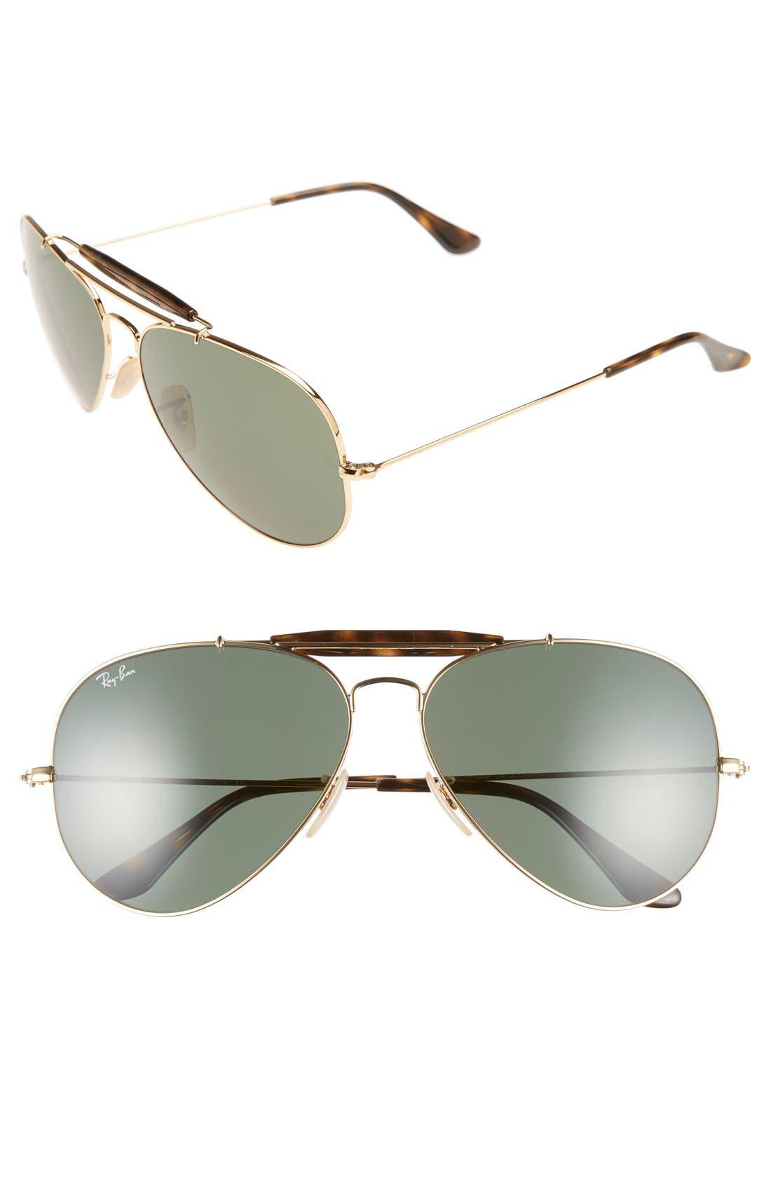 Main Image - Ray-Ban 'Outdoorsman II' 62mm Sunglasses