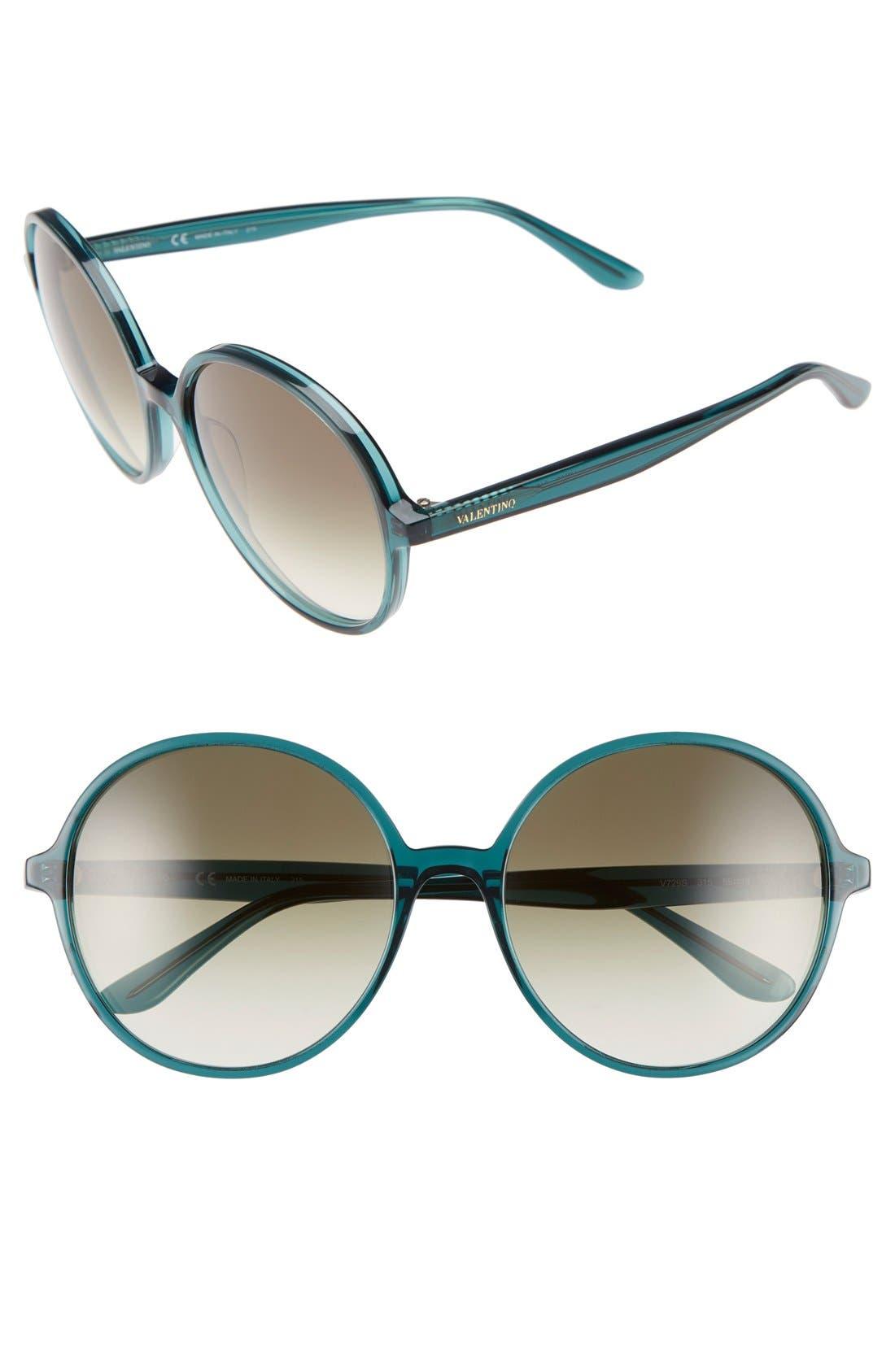 Main Image - Valentino 59mm Round Sunglasses