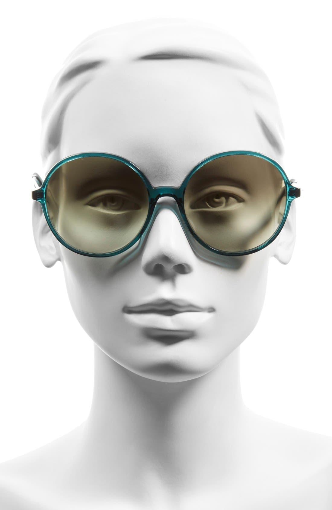 Alternate Image 2  - Valentino 59mm Round Sunglasses