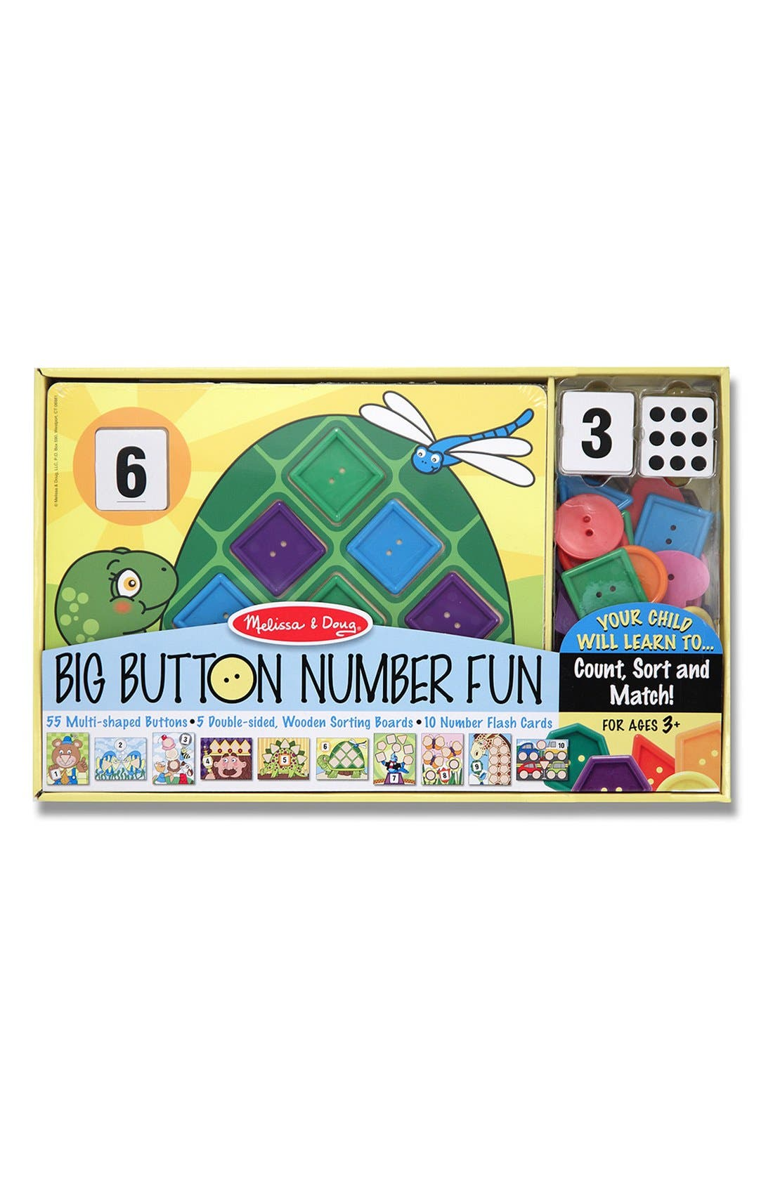 Alternate Image 1 Selected - Melissa & Doug 'Big Button Number Fun' Board Game
