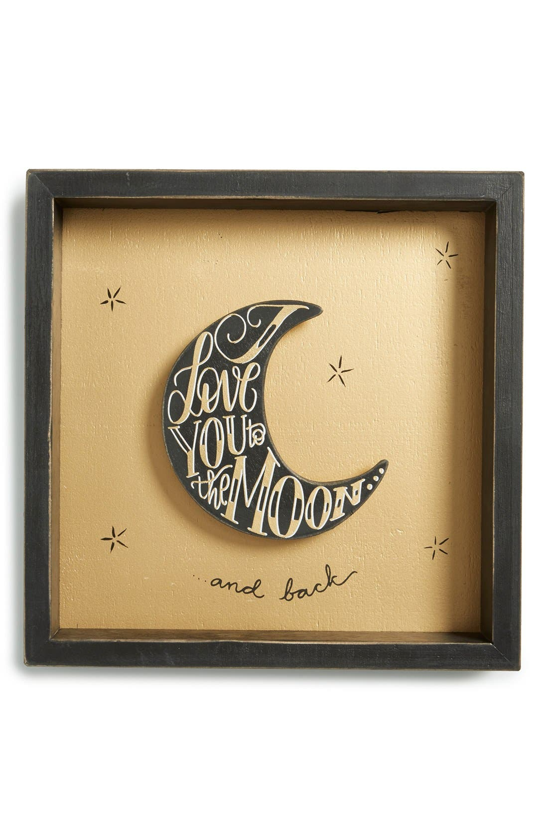 Main Image - Primitives by Kathy 'I Love You to the Moon and Back' Box Sign