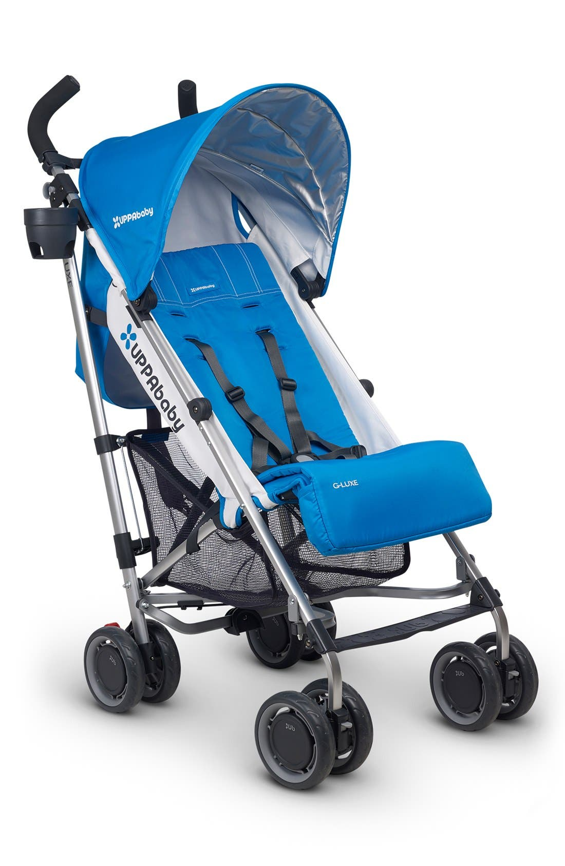 G-LUXE Geo Aluminum Frame Reclining Umbrella Stroller,                         Main,                         color, Blue