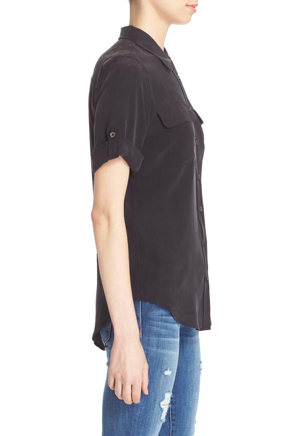 Alternate Image 3  - Equipment Slim Signature Short Sleeve Silk Shirt
