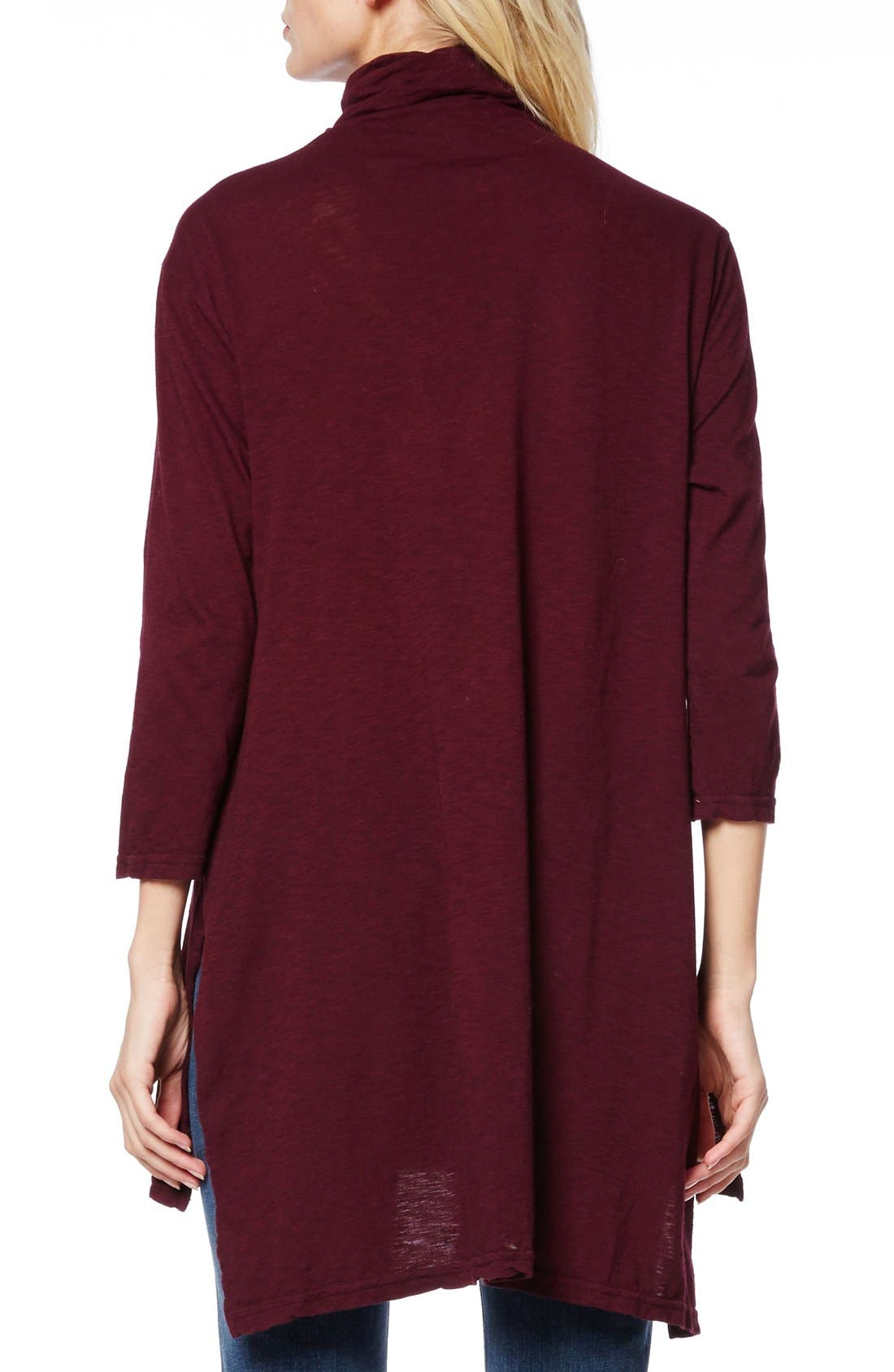 Alternate Image 2  - Michael Stars Mock Neck Supima® Cotton Tunic