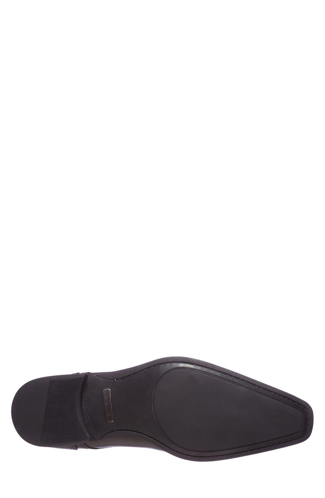 'Carlito' Cap Toe Derby,                             Alternate thumbnail 4, color,                             Black