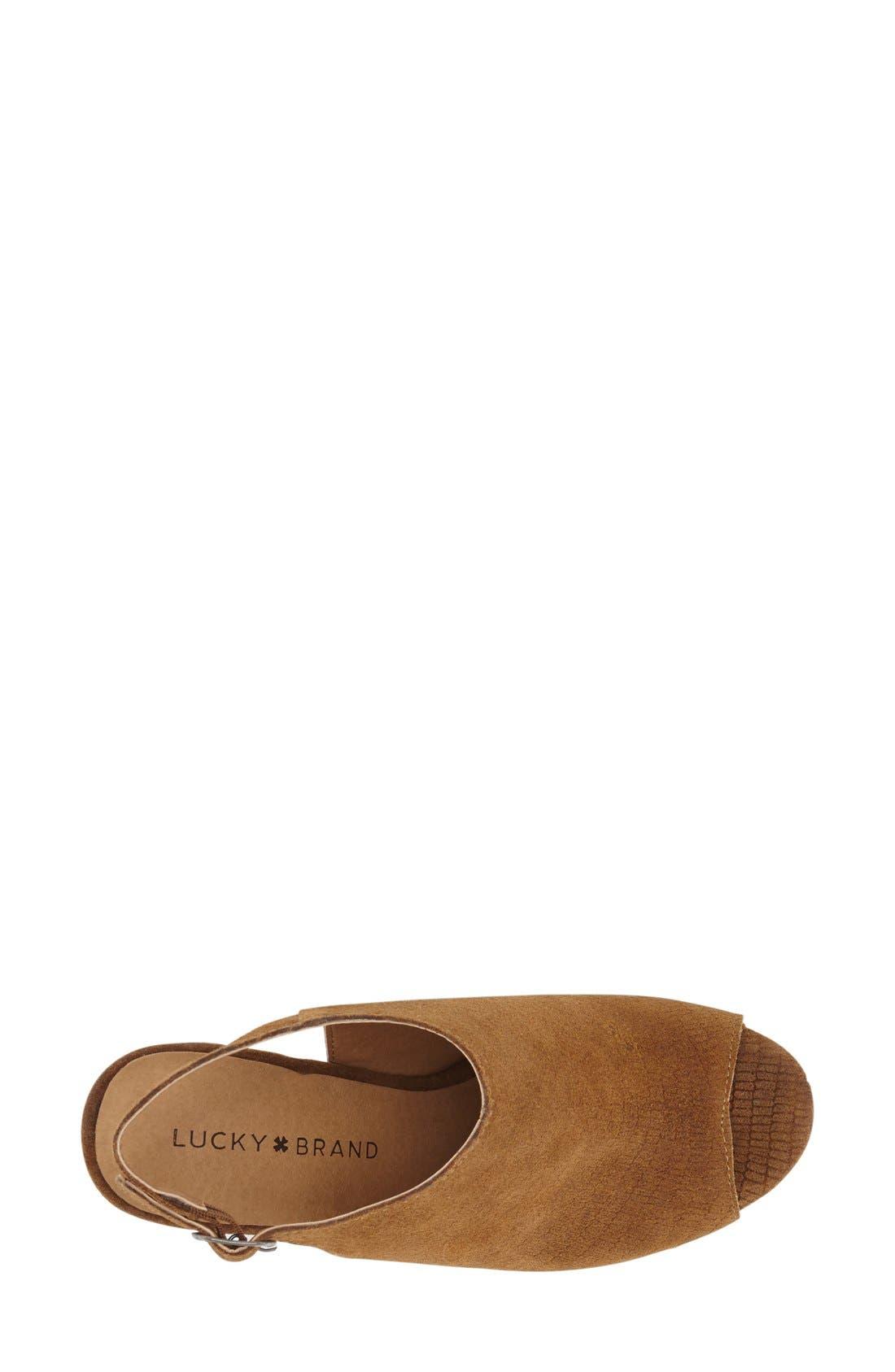 Alternate Image 3  - Lucky Brand 'Larae' Wedge Sandal (Women)