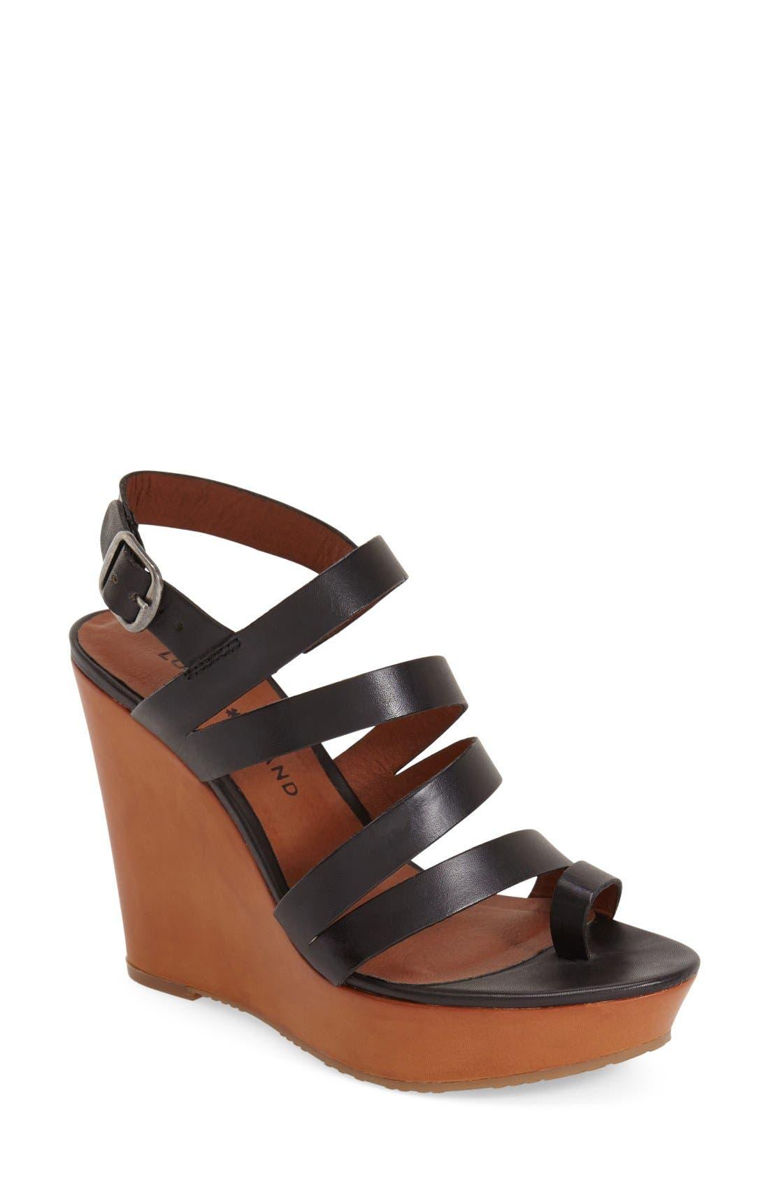 Alternate Image 1 Selected - Lucky Brand 'Fairfina' Wedge Sandal (Women)
