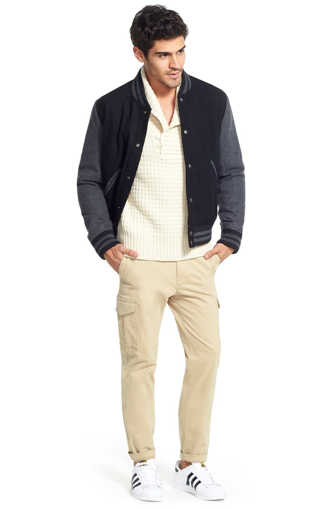 Shawl Collar Knit Pullover,                             Alternate thumbnail 6, color,                             Off White