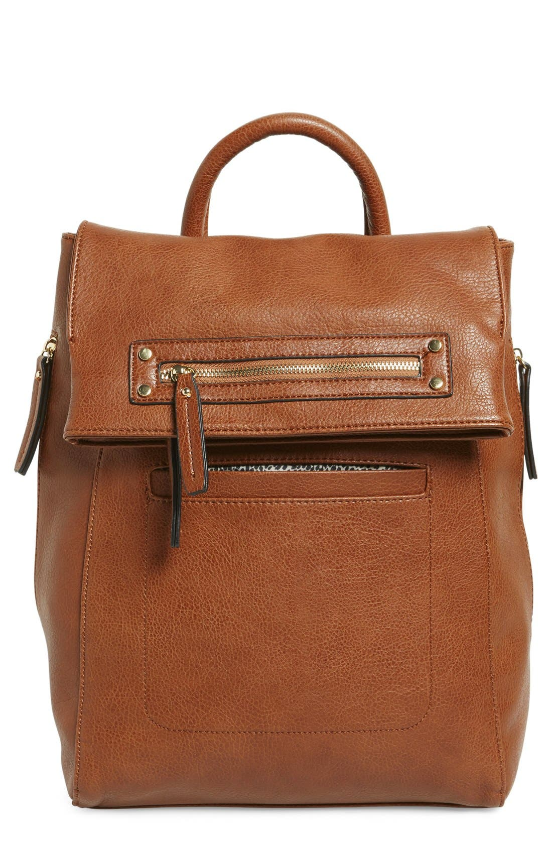 Alternate Image 1 Selected - Sole Society Large Faux Leather Backpack