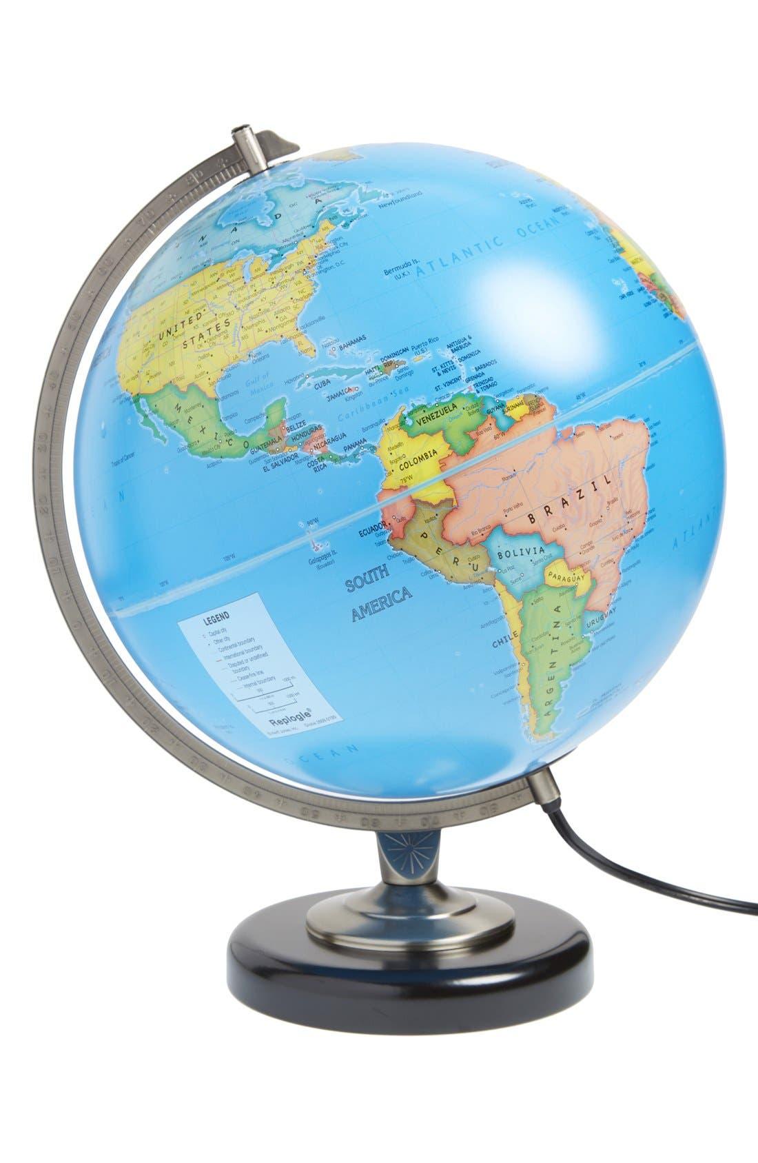 'Day & Night' Globe,                         Main,                         color, Blue Ocean