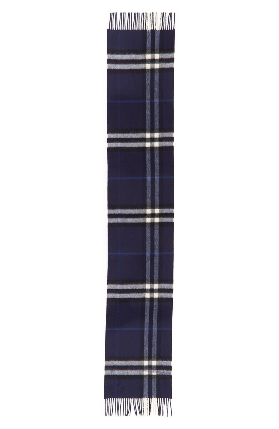 'Giant Icon' Cashmere Scarf,                             Alternate thumbnail 2, color,                             Indigo Blue