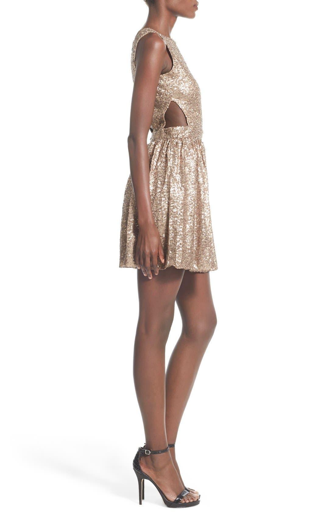 Alternate Image 3  - Raga Sequin Cutout Sleeveless Dress