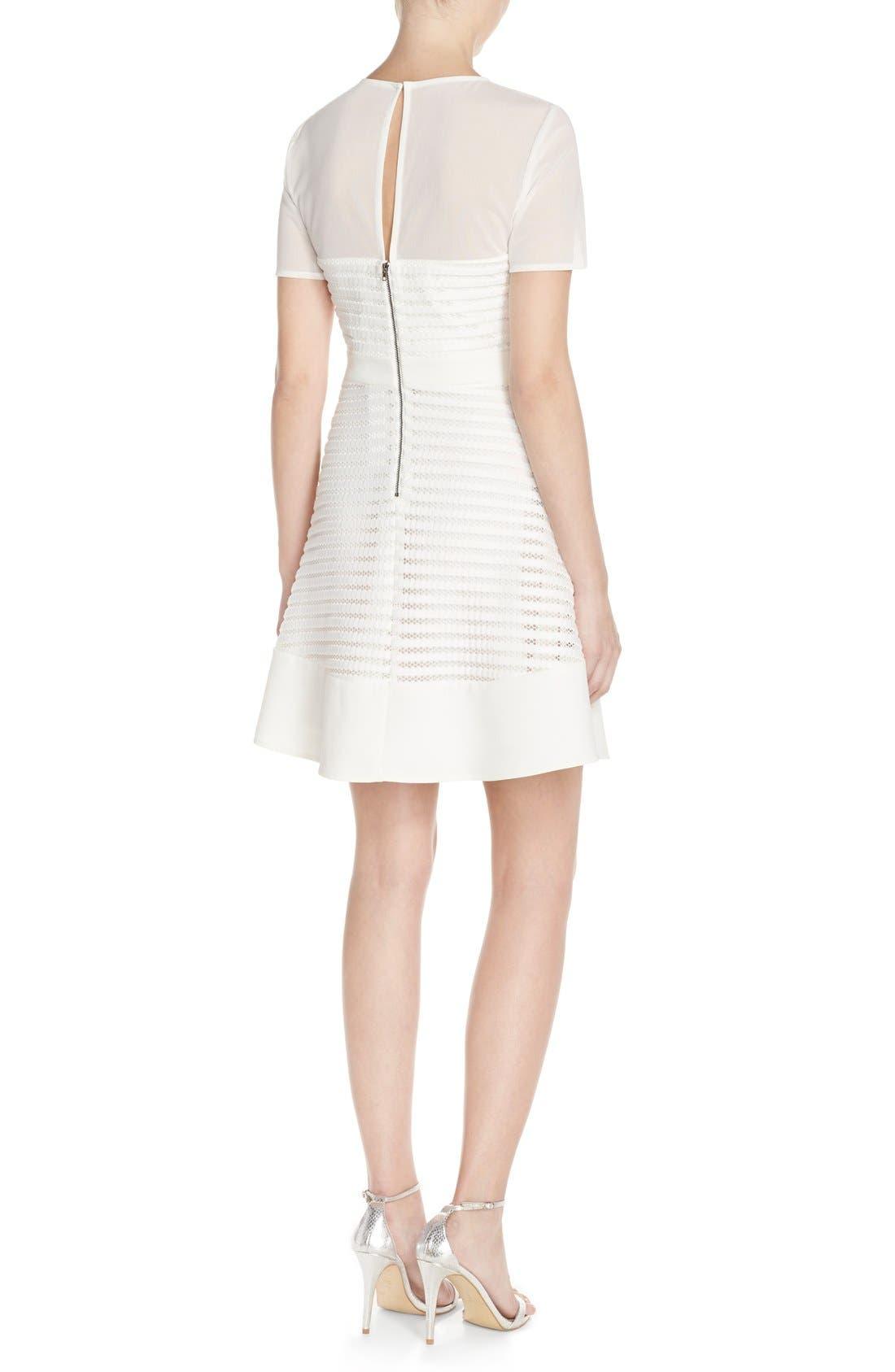 Alternate Image 3  - Adelyn Rae Mixed Media Fit & Flare Dress