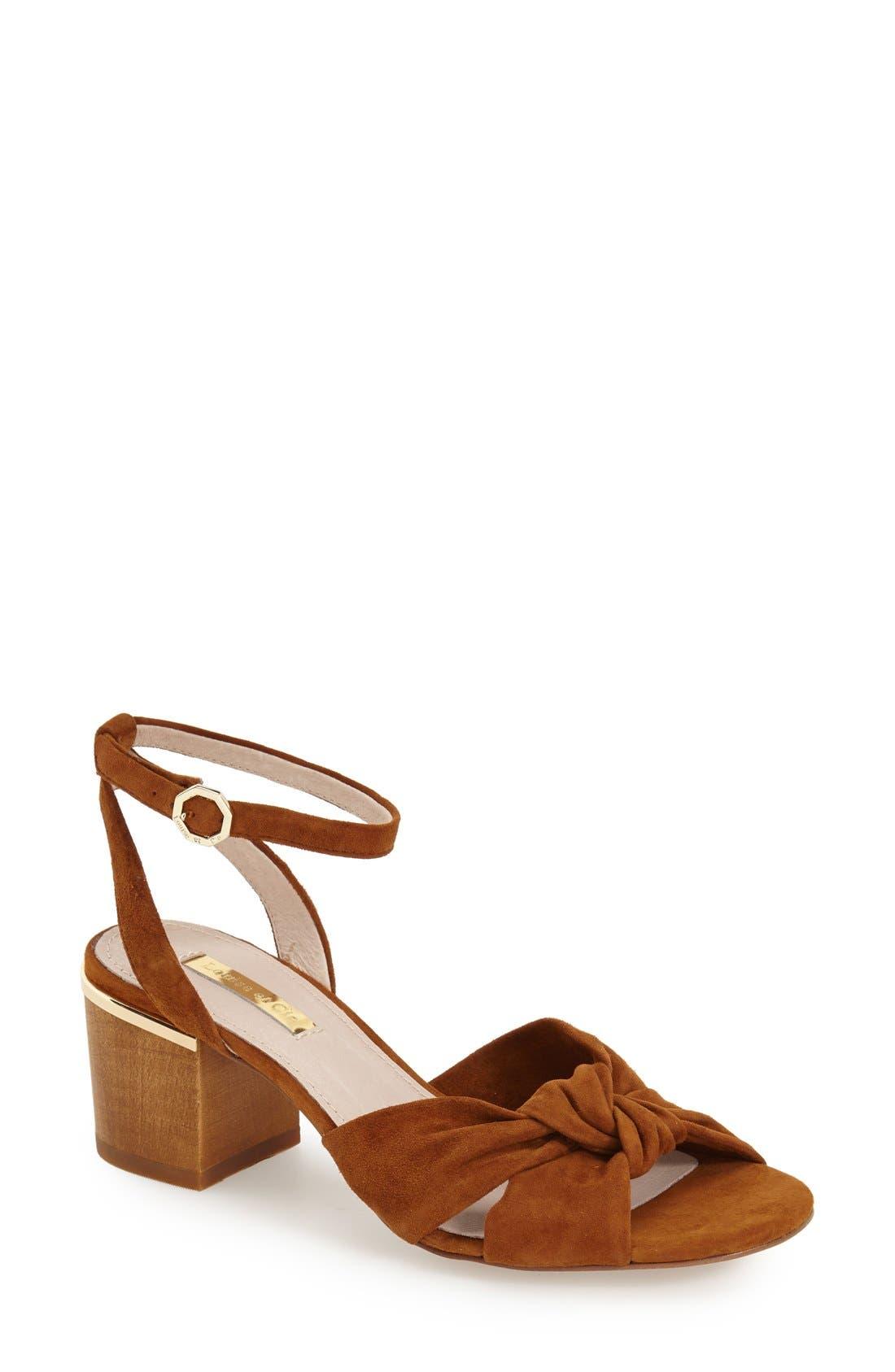 'Genna City' Sandal,                         Main,                         color, Yam Suede
