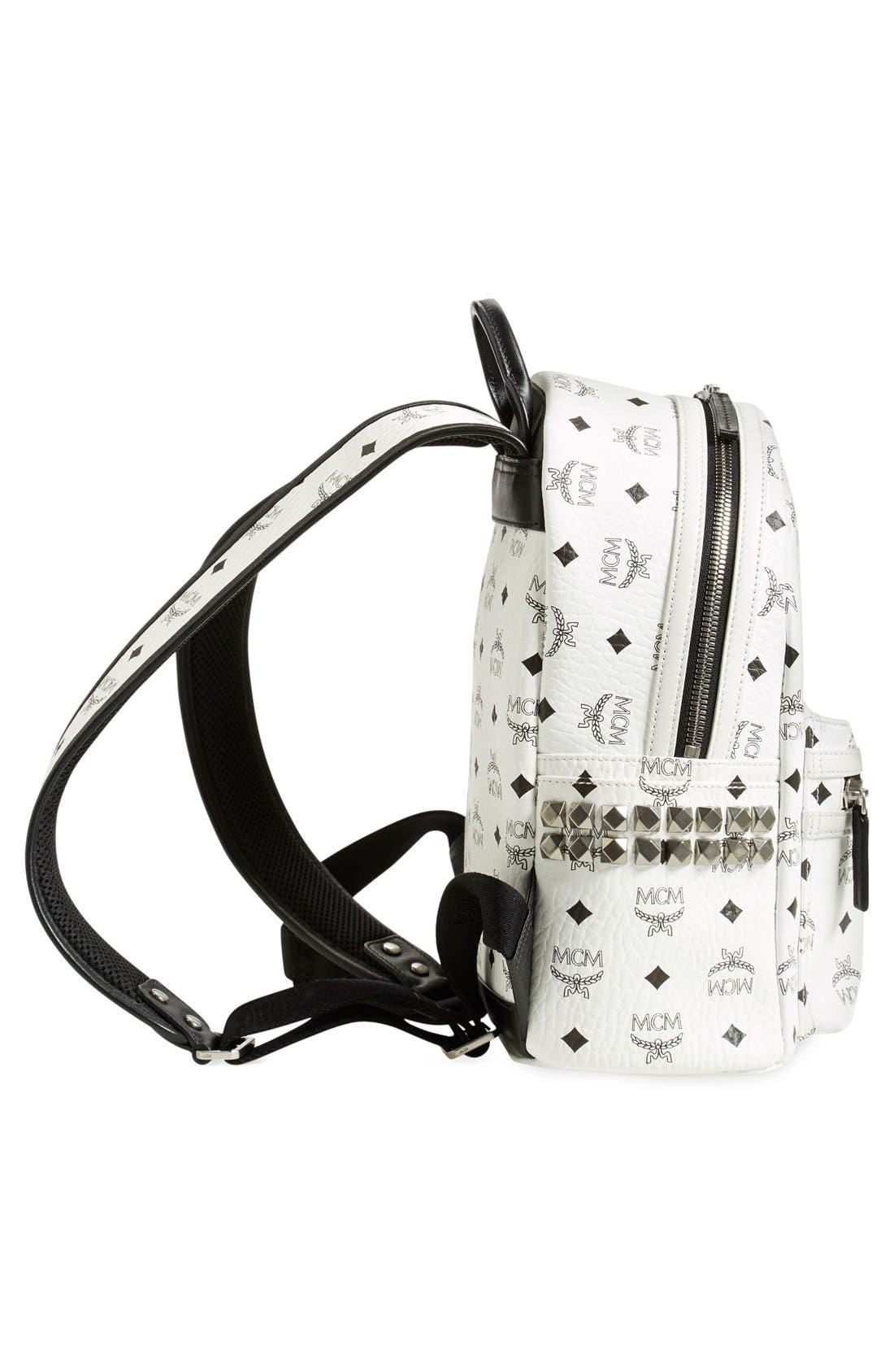 Small Stark Side Stud Backpack,                             Alternate thumbnail 5, color,                             White