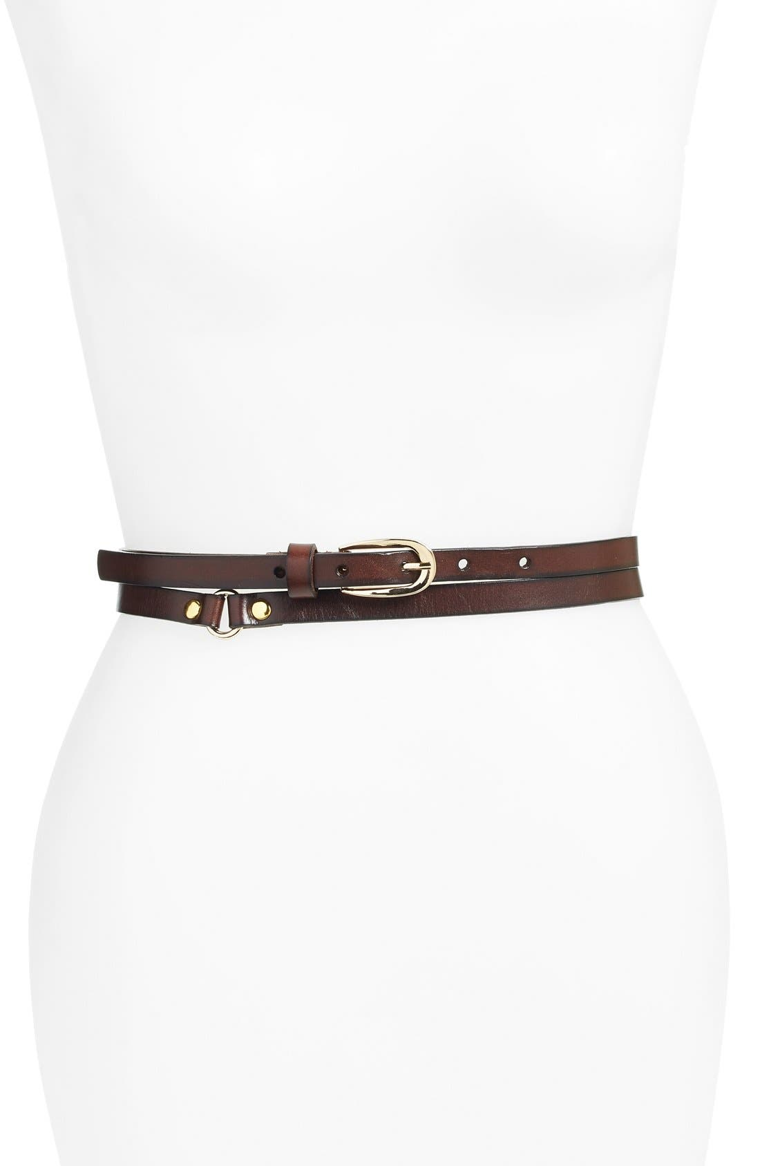 ELISE M. 'Charlize' Double Wrap Belt in Capp