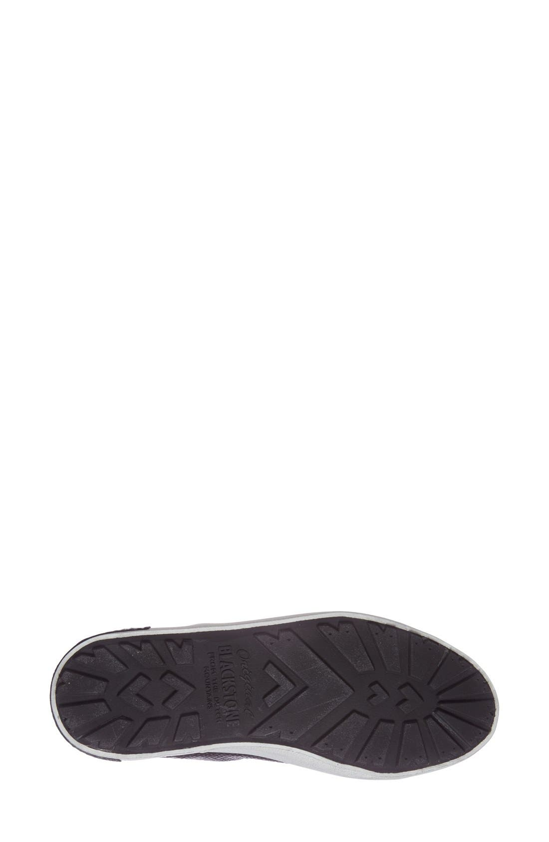 'KL57' High Top Sneaker,                             Alternate thumbnail 4, color,                             Black Metallic Leather