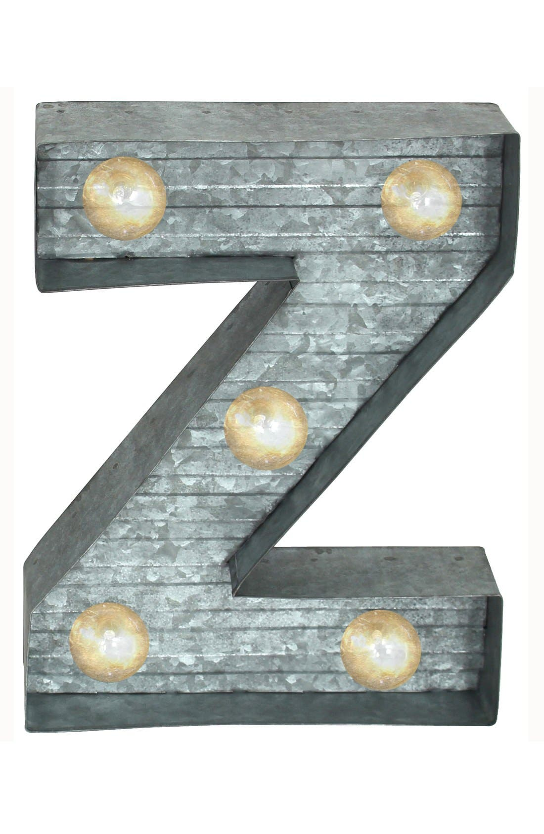 LED Metal Marquee Letter Light,                         Main,                         color, Silver - Z