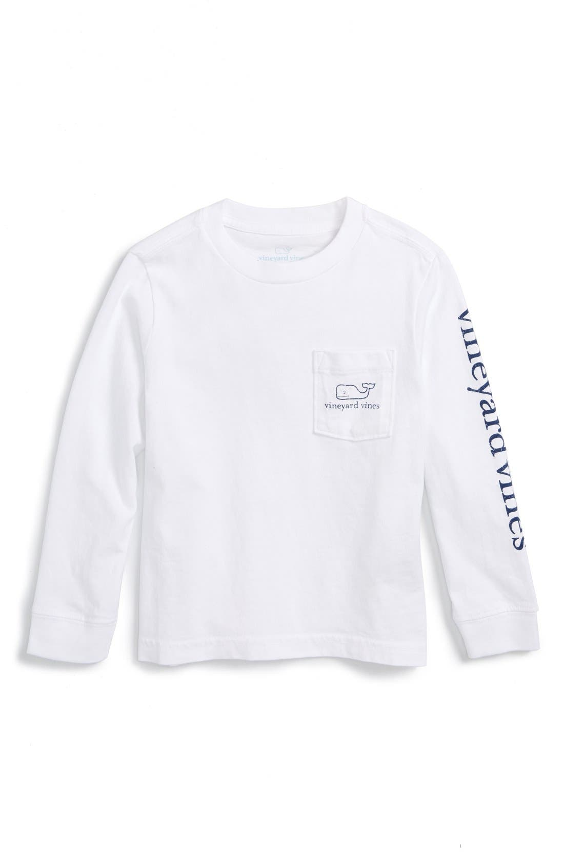 Main Image - vineyard vines Vintage Whale Graphic Long Sleeve T-Shirt (Toddler Boys & Little Boys)