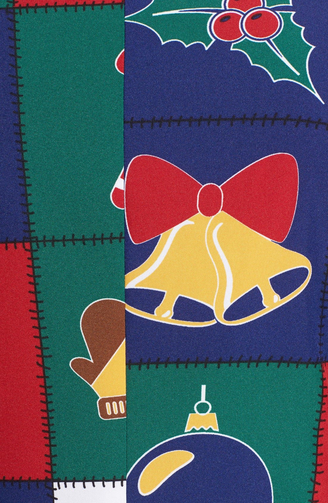 'Quilty Pleasure' Holiday Suit & Tie,                             Alternate thumbnail 7, color,                             Green