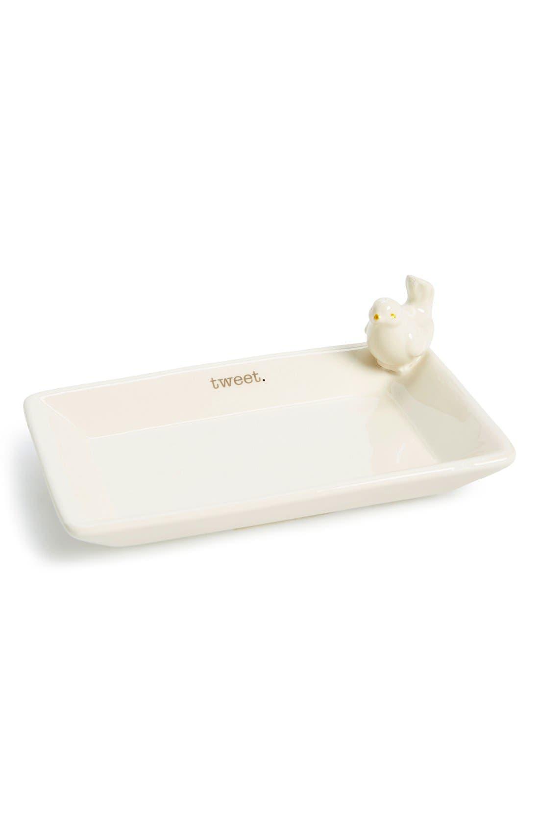 Alternate Image 1 Selected - American Atelier 'Tweet' Ceramic Trinket Tray