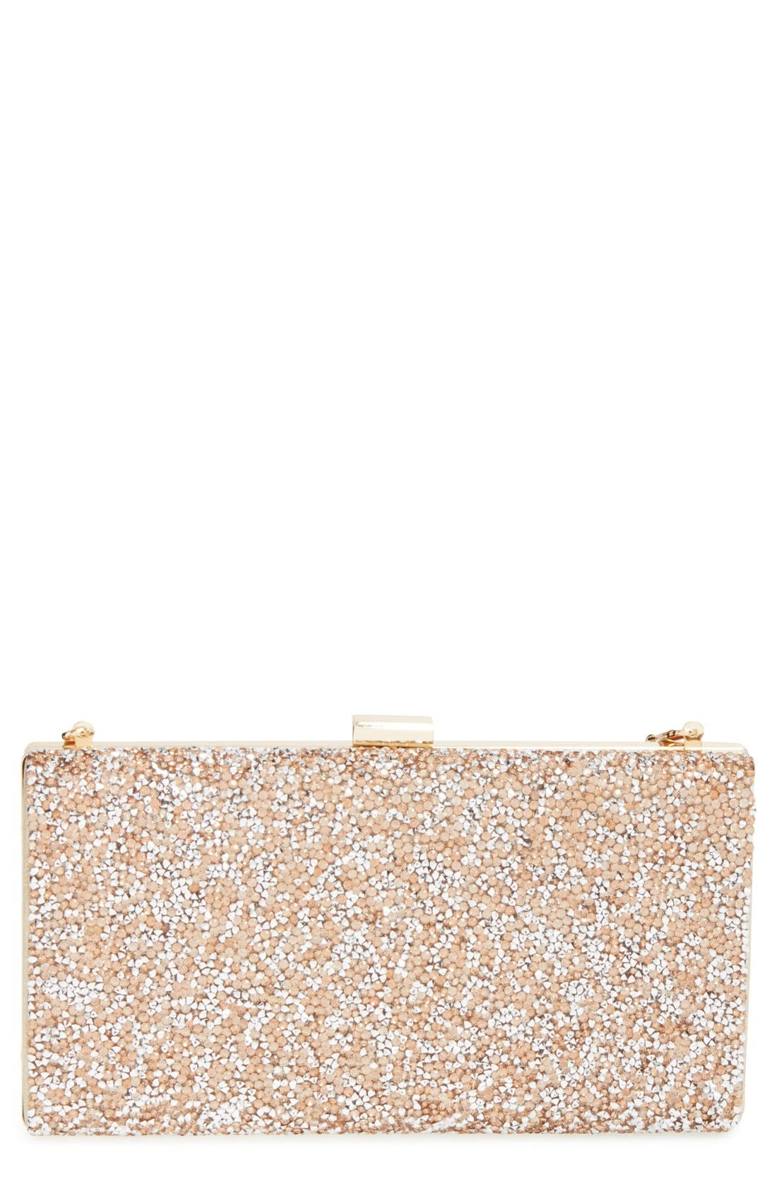 'Mayanna' Crystal Embellished Minaudiere,                         Main,                         color, Champagne