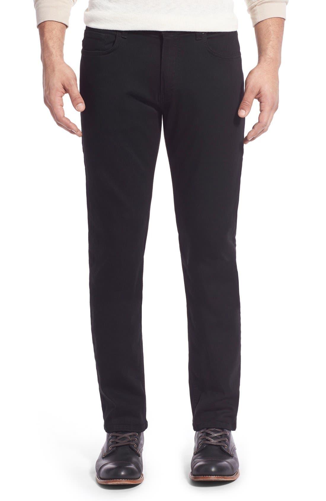 PAIGE Transcend - Lennox Straight Leg Jeans (Black Shadow)