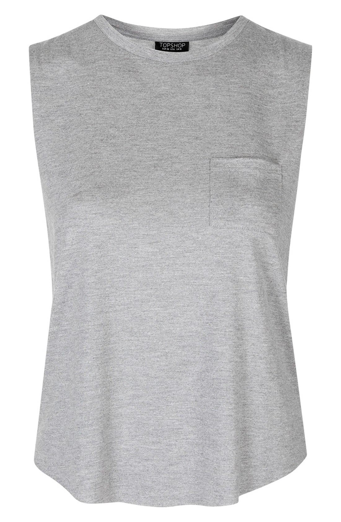 Alternate Image 5  - Topshop Relaxed Fit Pocket Tank