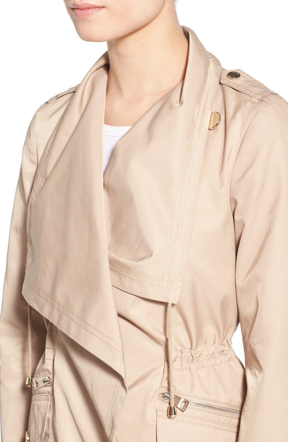 Alternate Image 4  - GUESS Draped Asymmetrical Zip Anorak
