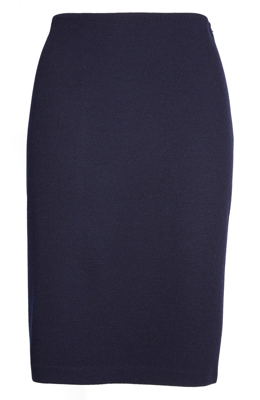 Alternate Image 4  - St. John Collection Milano Piqué Knit Pencil Skirt