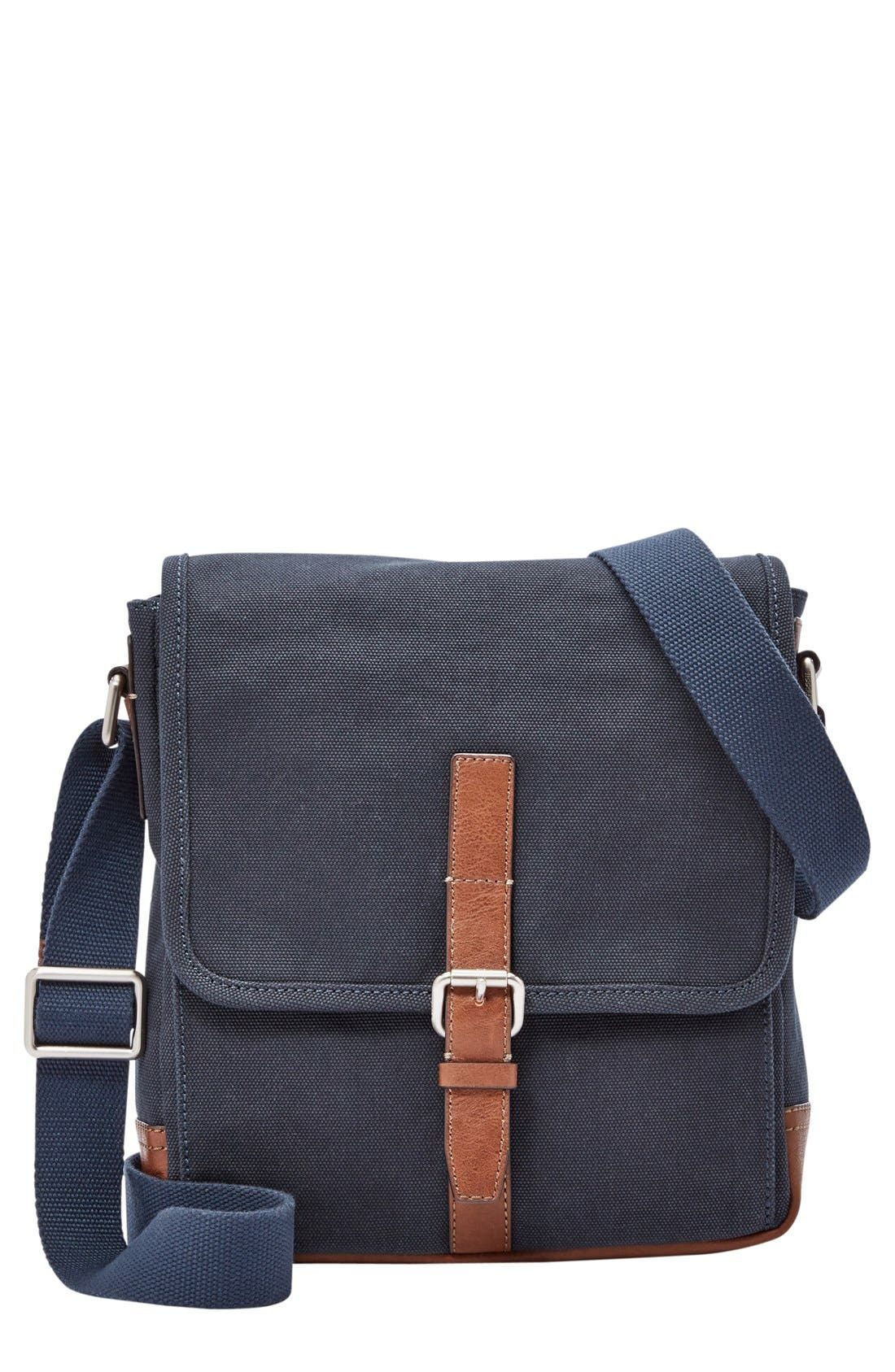 Fossil 'Davis' Canvas Messenger Bag
