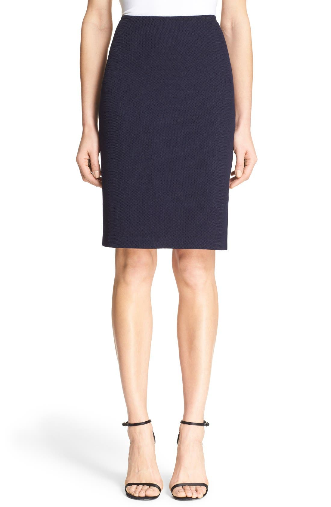 Main Image - St. John Collection Milano Piqué Knit Pencil Skirt