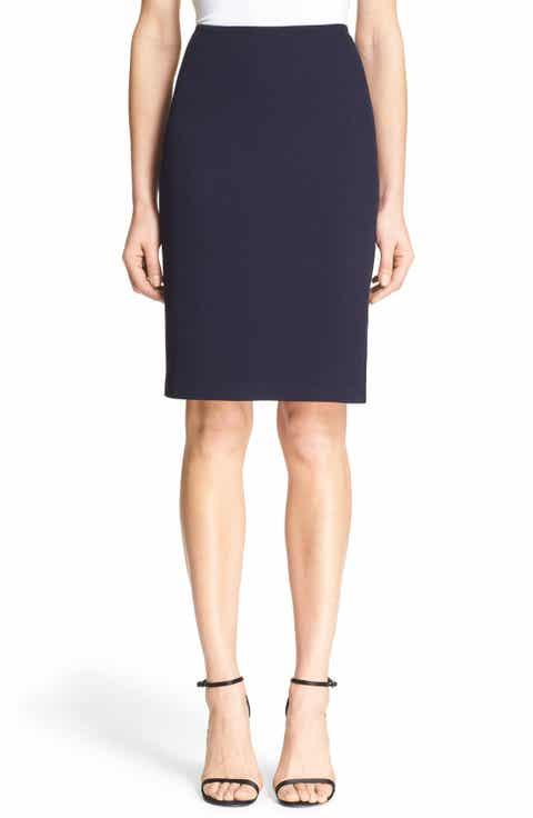 St. John Collection Milano Piqué Knit Pencil Skirt