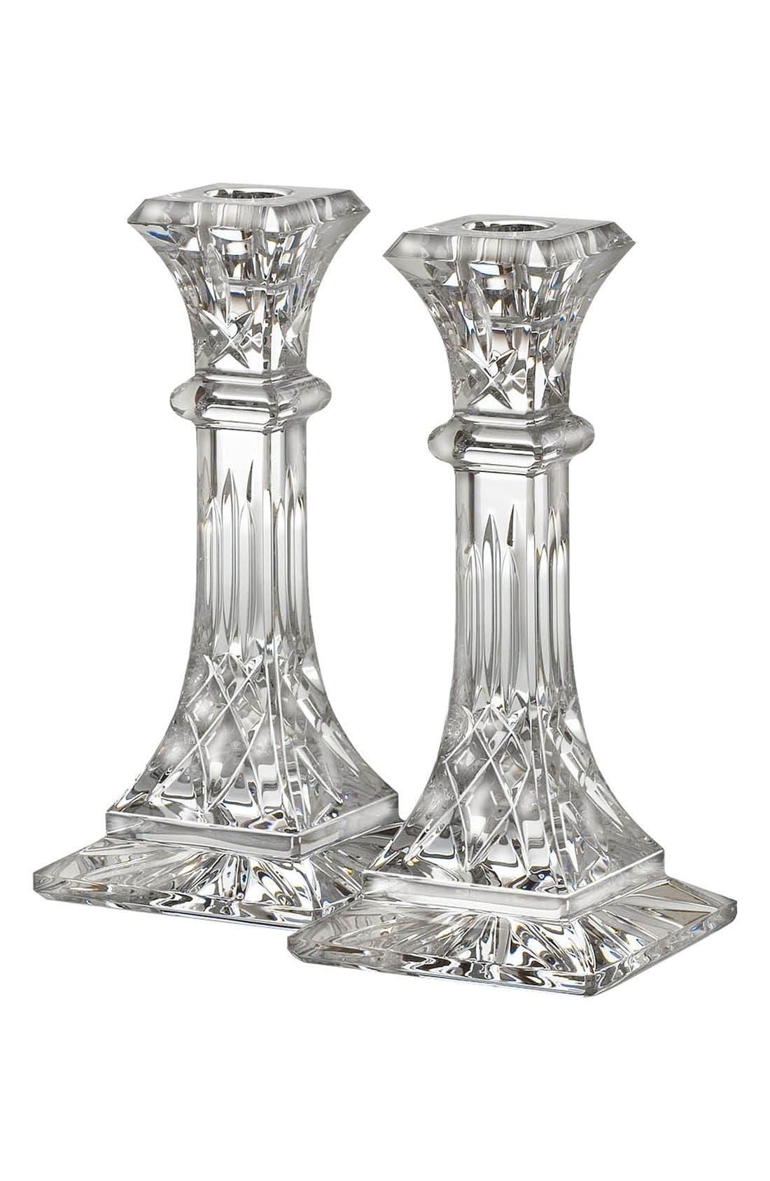 Alternate Image 3  - Waterford 'Lismore' Lead Crystal Candlesticks (Set of 2)