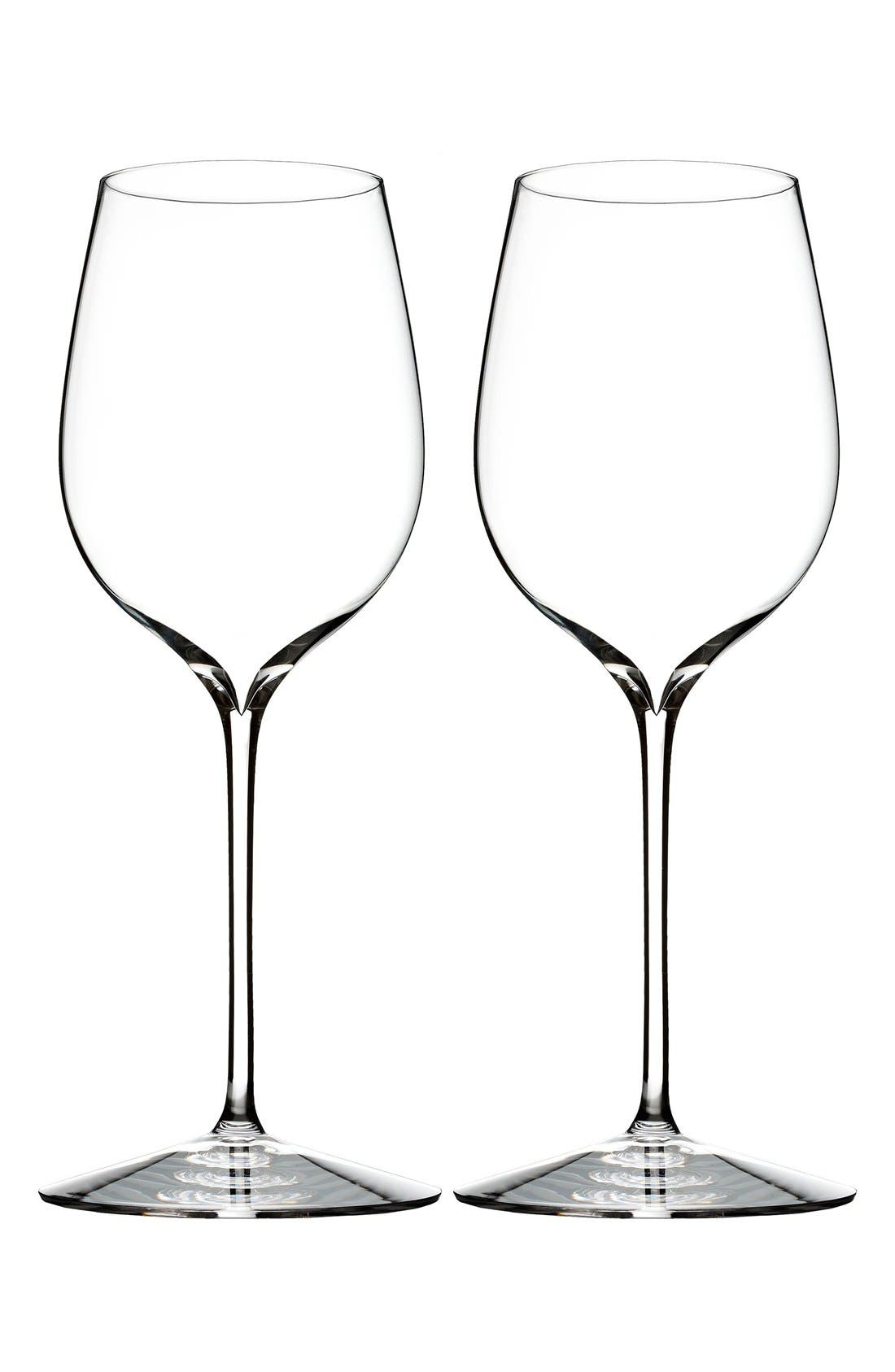 'Elegance' Fine Crystal Pinot Noir Glasses,                             Main thumbnail 1, color,                             Clear