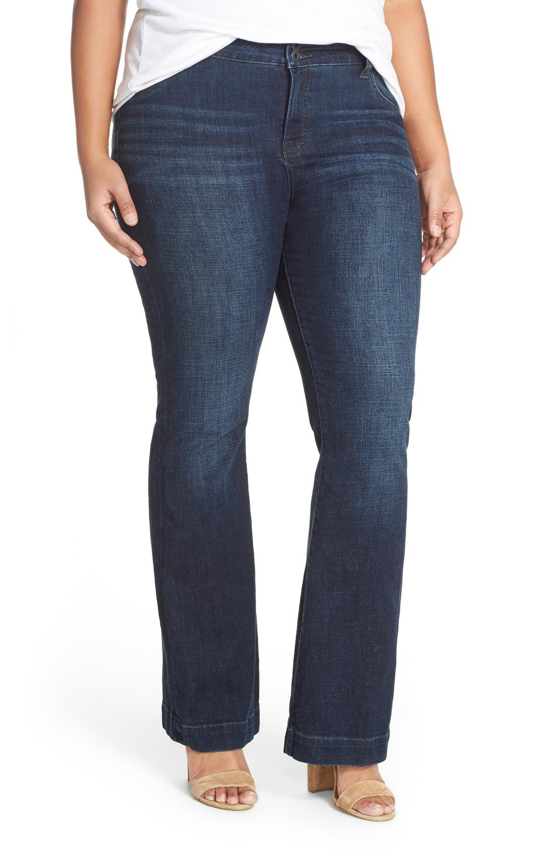Lucky Brand 'Emma' Stretch Flare Leg Jeans (Banning) (Plus Size ...