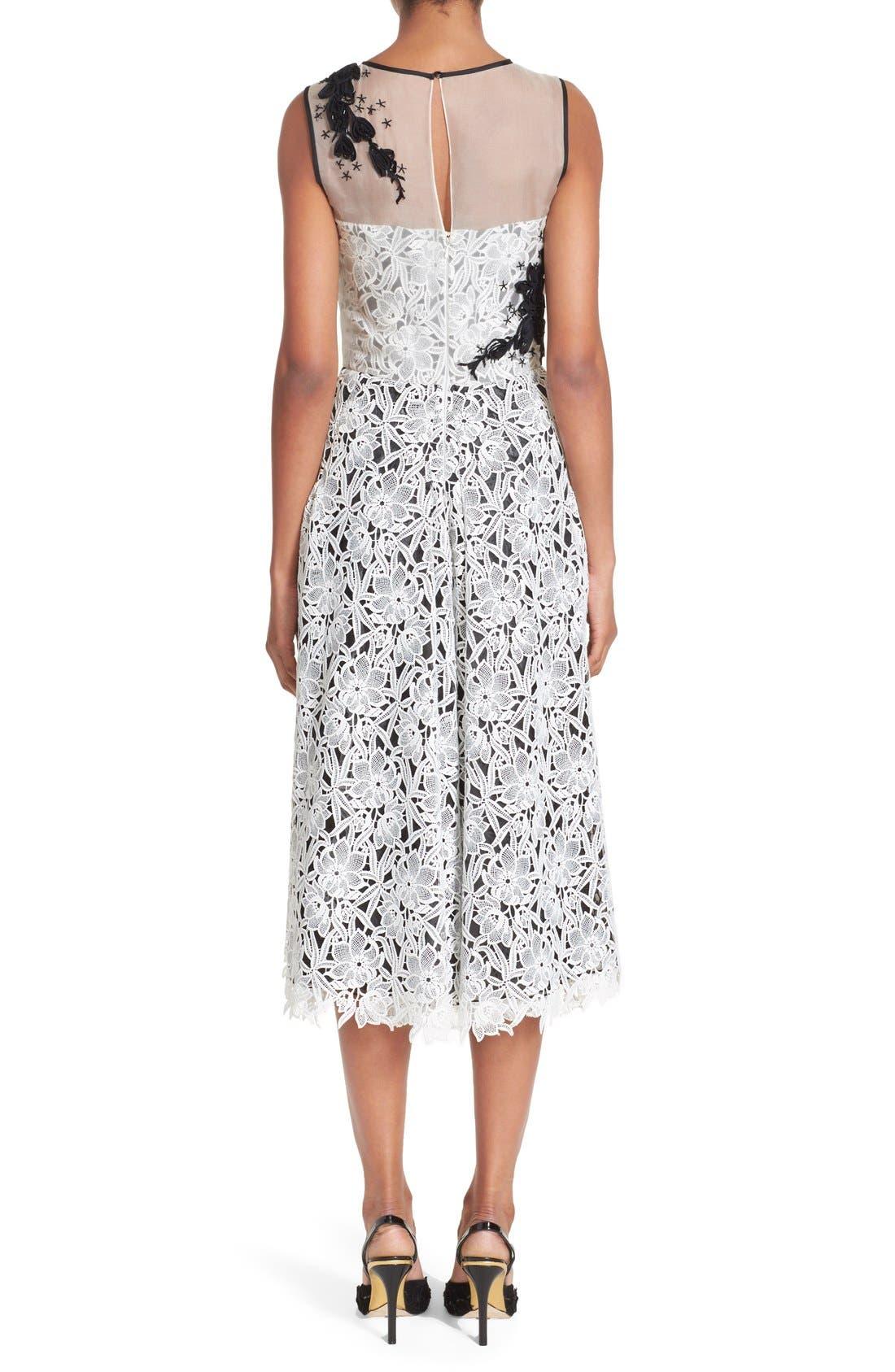 Alternate Image 2  - Oscar de la Renta Embellished Floral Lace Dress