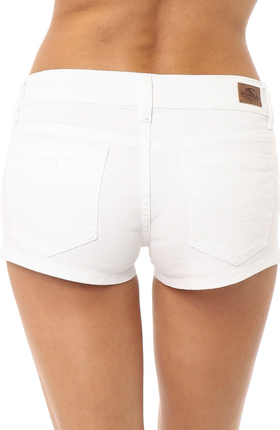 Alternate Image 3  - O'Neill 'Wesley' Denim Shorts (White)