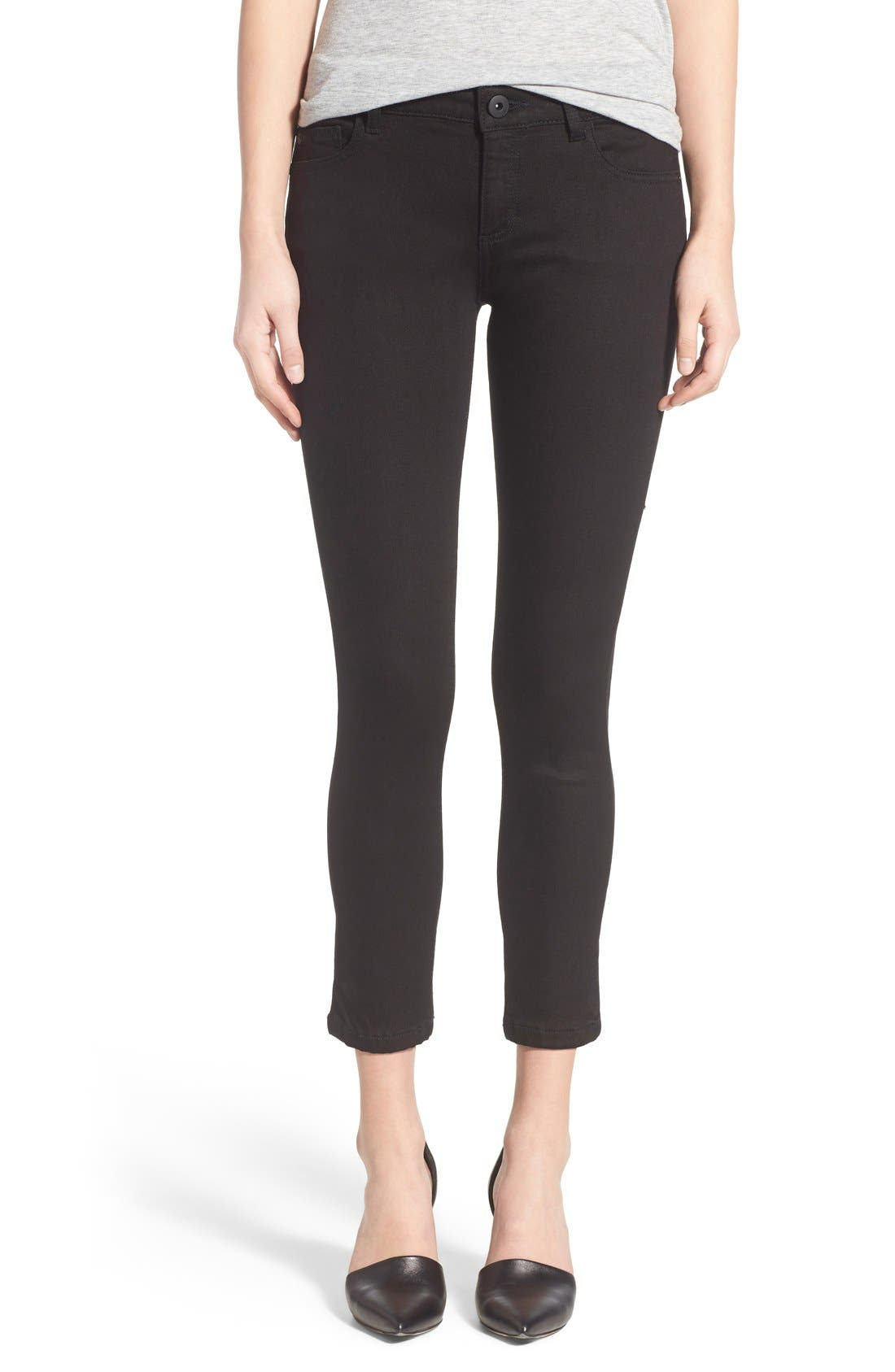 Main Image - DL1961 'Florence' Instasculpt Crop Skinny Jeans (Hail)
