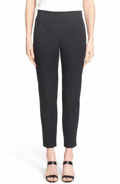 Ming Wang Woven Slim Ankle Pants