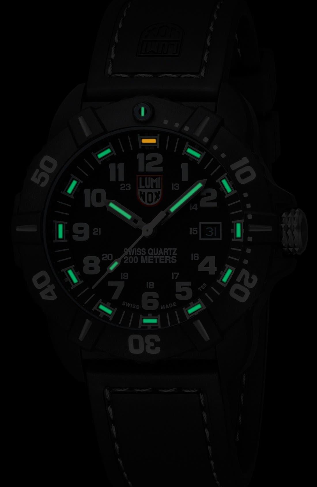 Alternate Image 3  - Luminox 'Coronado' Rubber Strap Watch, 44mm